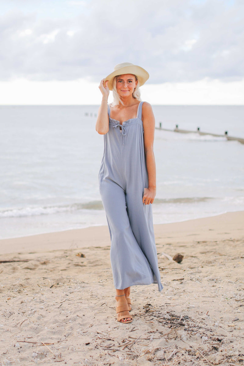 Relax Tie Bodice Jumpsuit (also available in BLACK)