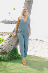 Lounge Slub Jumpsuit (2 colors)