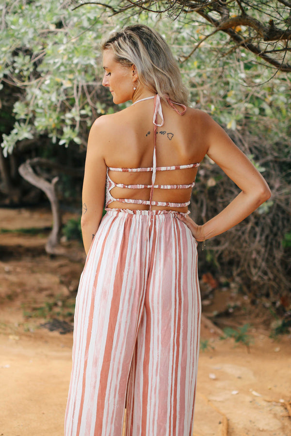 Halter Strappy Back Jumpsuit