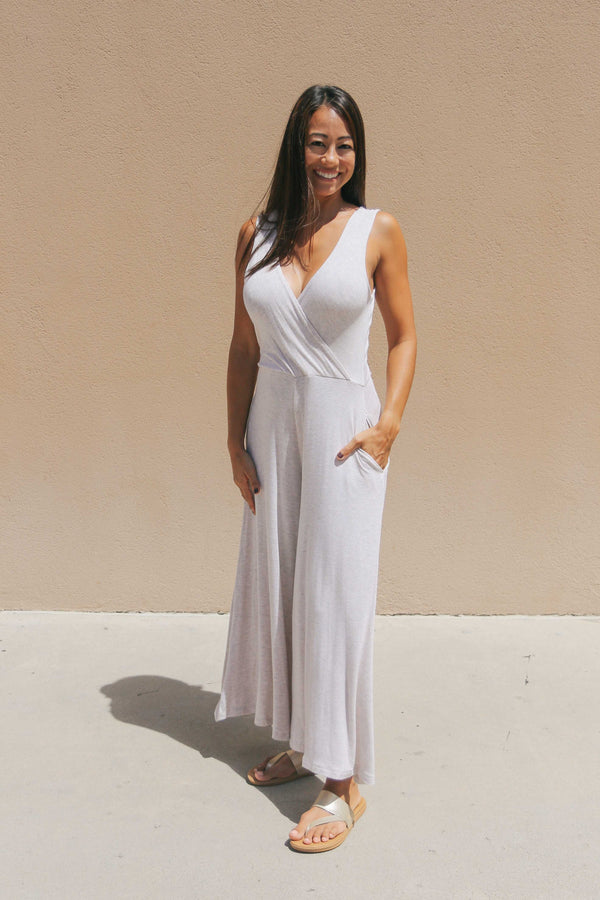 Surplice V-neck Jumpsuit