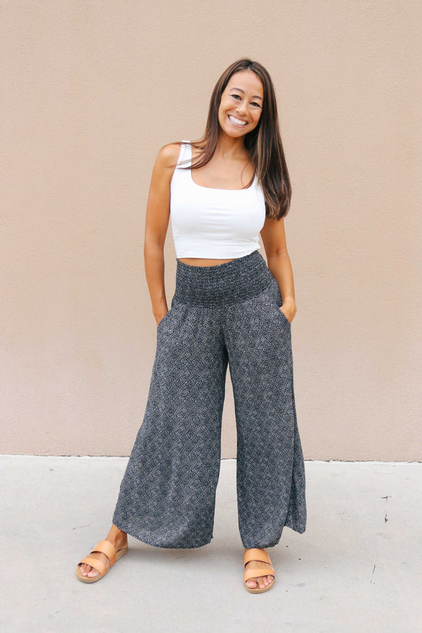 Floral Smocked Pants (3 colors available)