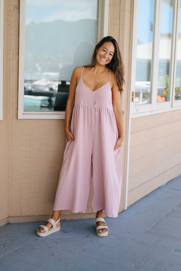 Linen Babydoll Jumpsuit (2 colors)