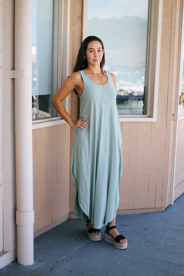 Cross Back Maxi Dress (solid)