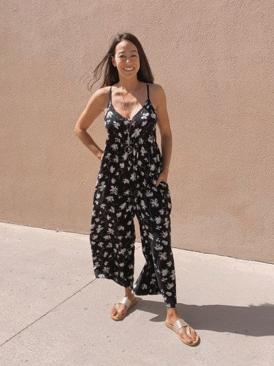 Floral Babydoll Jumpsuit (2 colors available)