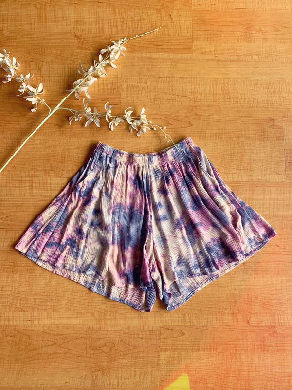 Tie Dye Pull on Shorts
