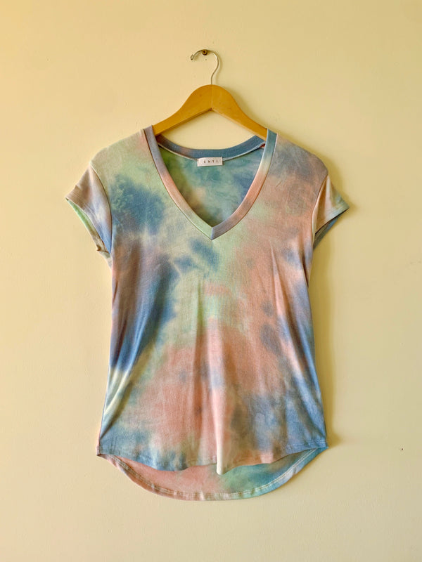 Tie Dye V-Neck Tee (3 colors)