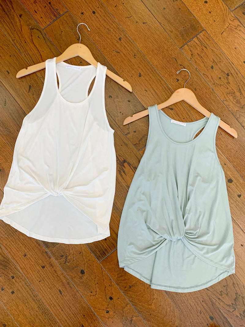 Knot Racerback Tank Top (4 colors)