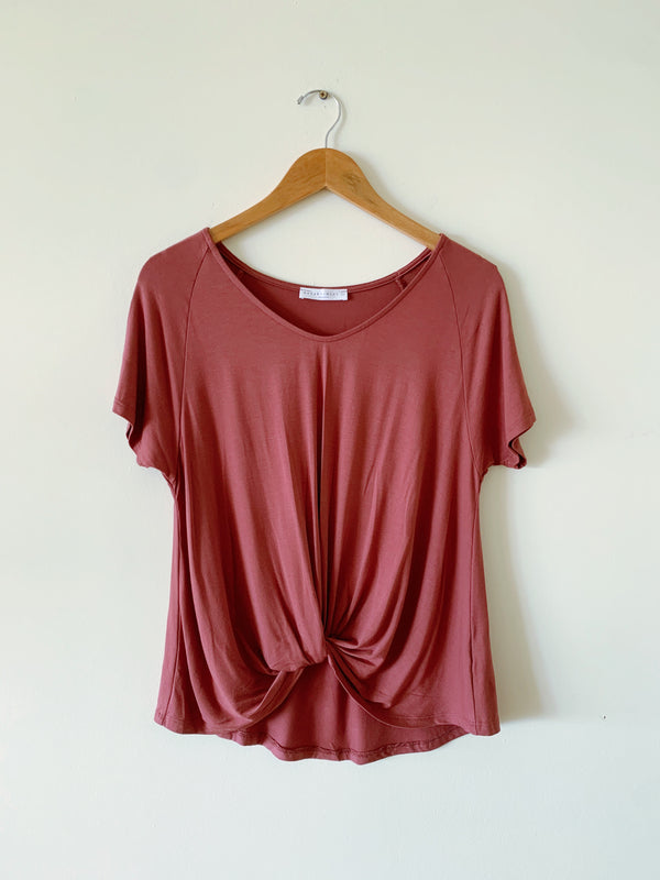 Knot Front Soft Tee (4 colors)