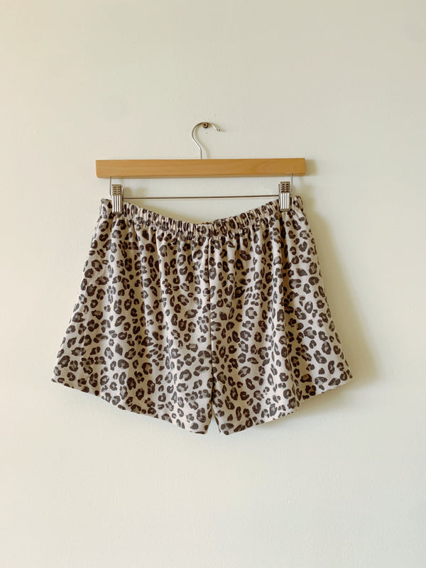 Animal Print Terry Shorts