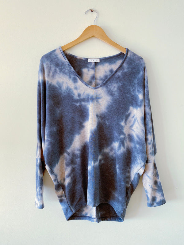 Tie Dye Terry Sweater (2 colors)