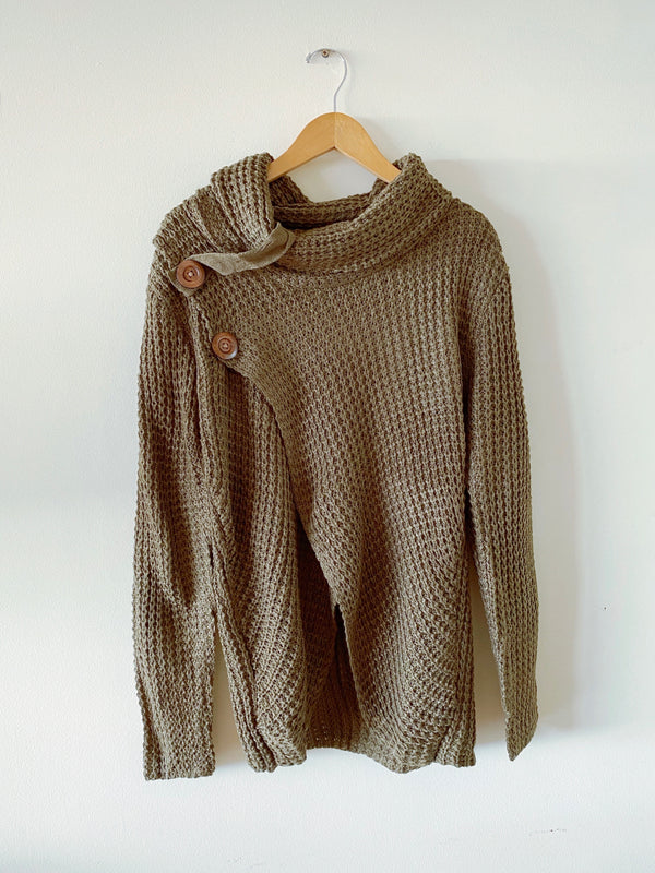 Cowl Turtle Neck Sweater (3 colors)