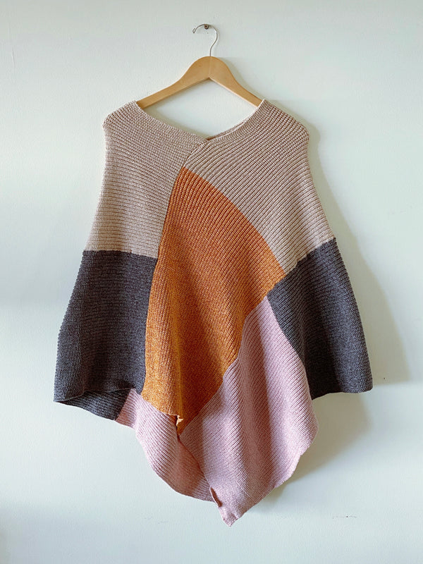 Color Block Poncho (2 colors)