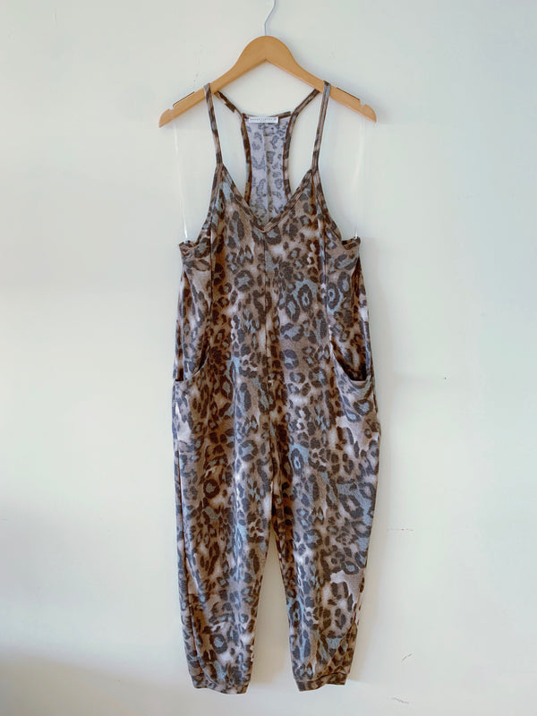 Leopard French Terry Jumpsuit