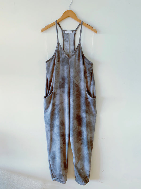 Tie Dye French Terry Jumpsuit (2 colors)