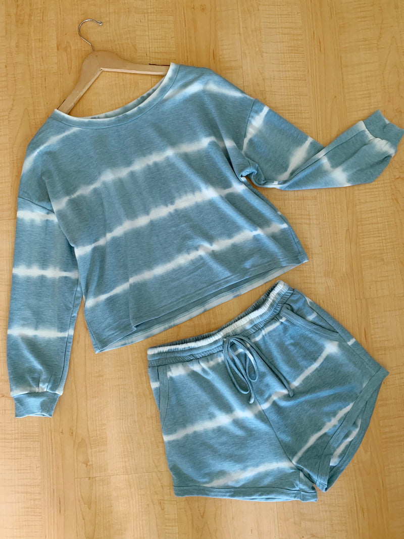 Tie Dye Drawstring Shorts (2 colors)