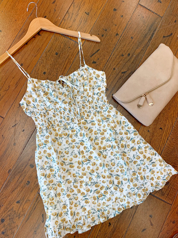 Bloom Smocked Mini Dress
