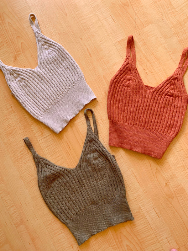 Ribbed Sweater Tank (3 colors)