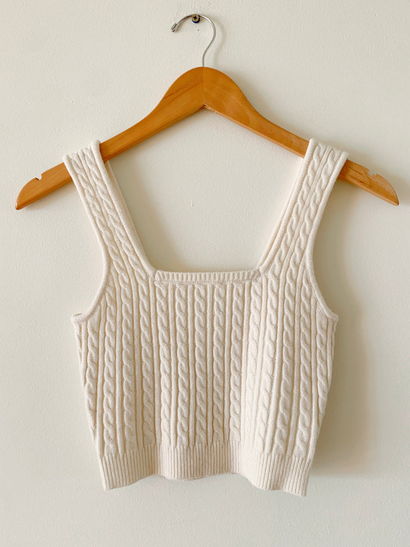 Cable Knit Sweater Top (2 colors)
