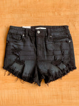 High Rise Cut Off Denim Shorts