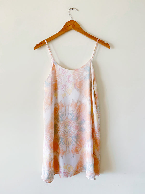 Starburst Satin Slip Dress