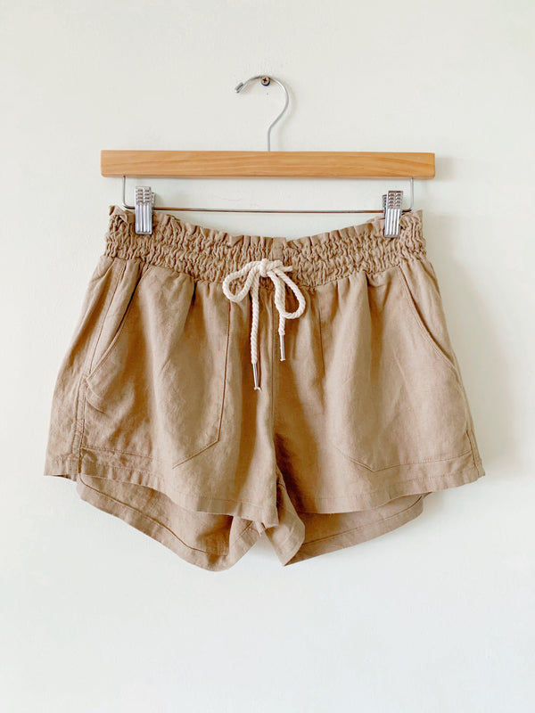 Linen Chord Tie Shorts (5 colors)