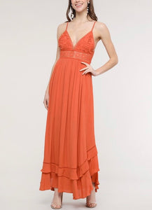 Crochet Tie Back Maxi Dress (3 colors available)