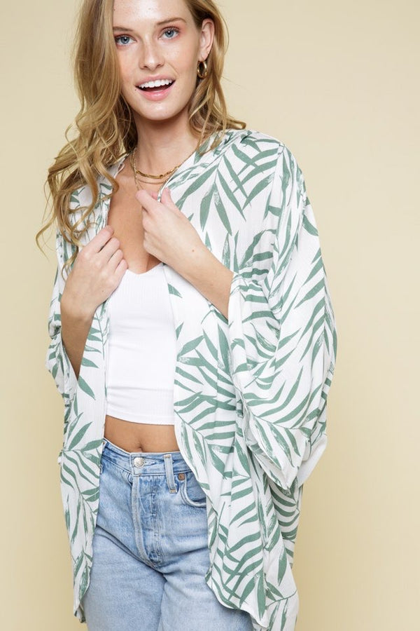 Tropical Print Cardigan