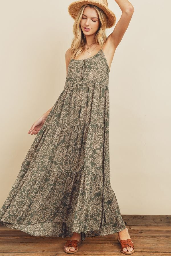 Matcha Tiered Maxi Dress