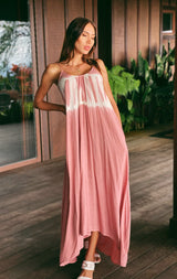 Tie Dye High Lo Maxi Dress (2 colors)