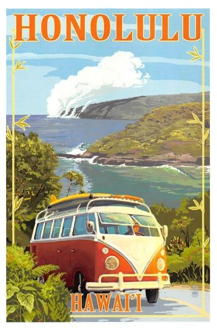 Affiche Surf Honolulu