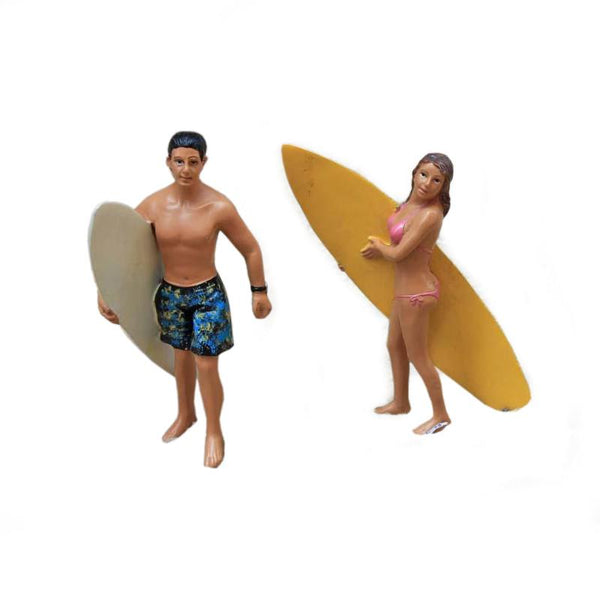 Figurines Surf - Couple (Résine)