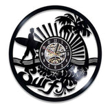 "Horloge Surf Murale - ""Fish Bone"""