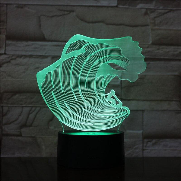 Lampe Surf 3D - Barrel