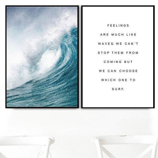 Poster Surf - Vague & Citation (2 PCS)