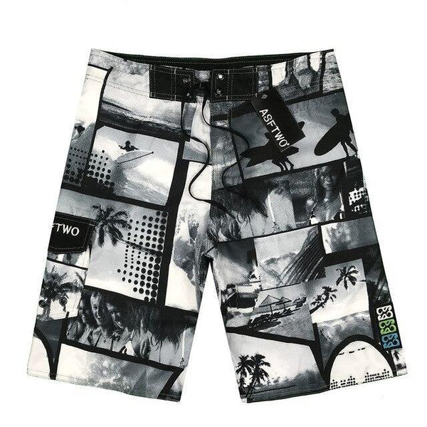 Short Surf Nylon - Noir & Blanc