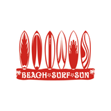 "Sticker Surf - ""Beach-Surf-Sun"" (20x13 cm)"