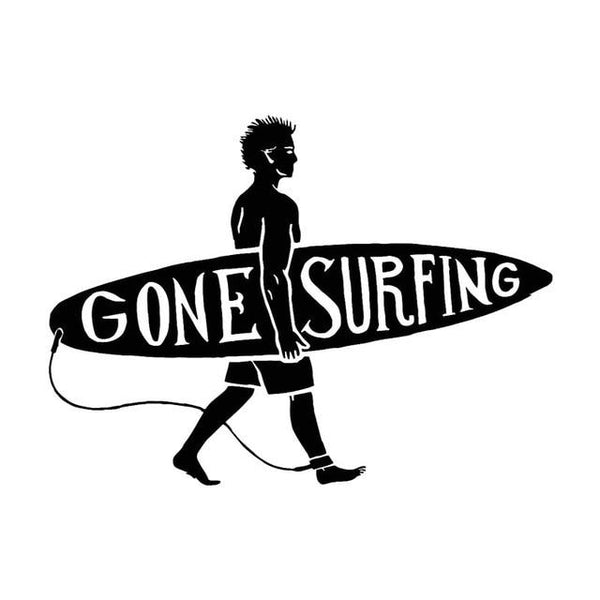 Sticker Gone Surfing