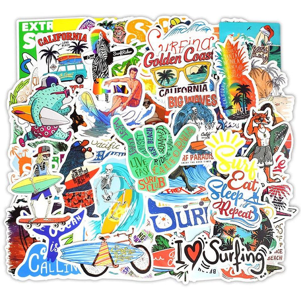 Pack Stickers Surf