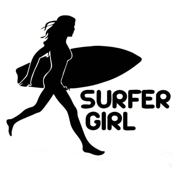 Sticker Surfer Girl