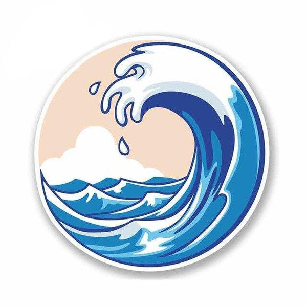 Sticker Vague Surf