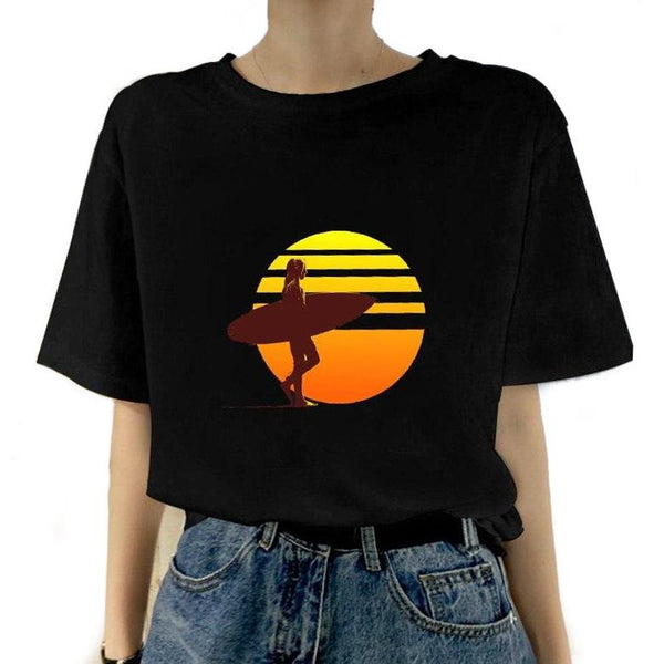 T-shirt Surfeuse - Sunset Session