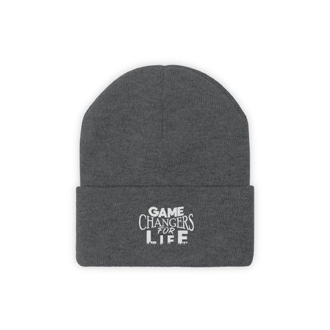 Game Changers Knit Beanie White