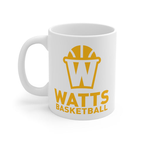 Watts White Ceramic Mug Orange