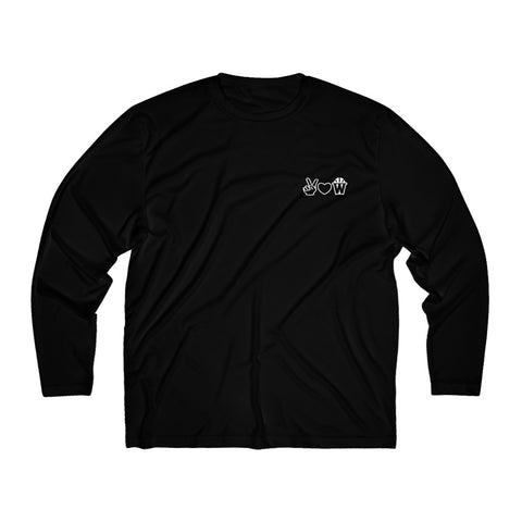 Peace, Love and Basketball Long Sleeve Moisture Absorbing Shirt