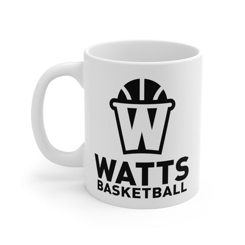 Watts White Ceramic Mug Black