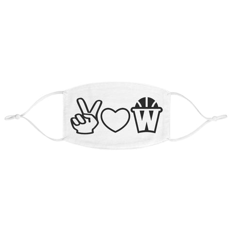 Peace, Love and Basketball Fabric Face Mask