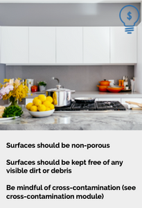 Food Prep and Serving Surfaces