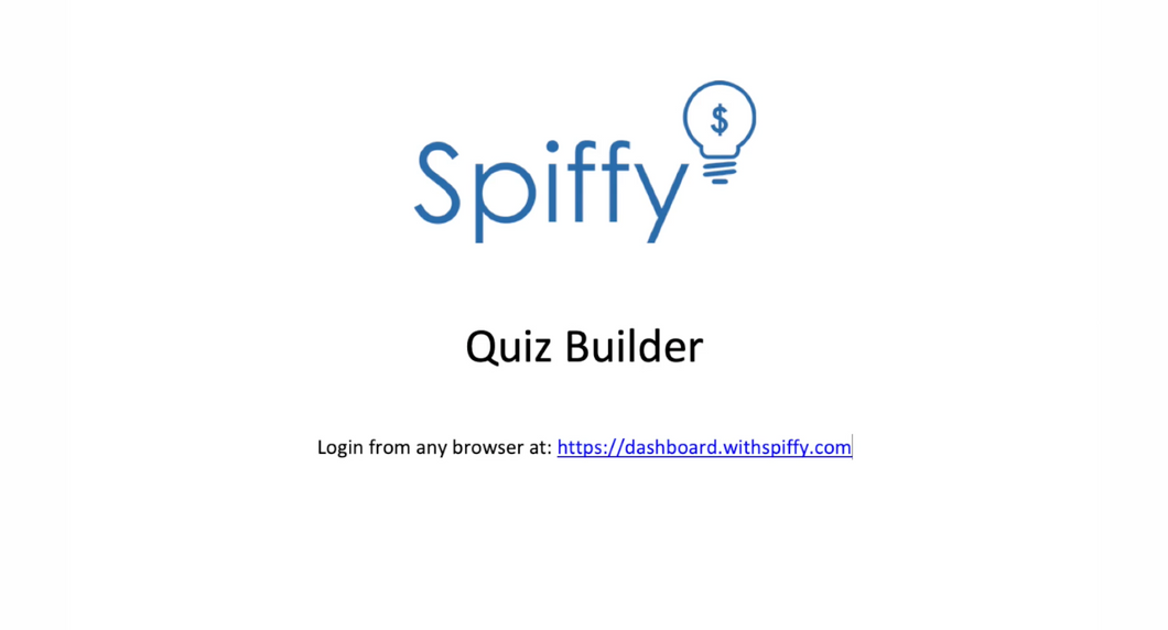 Spiffy Quiz Builder