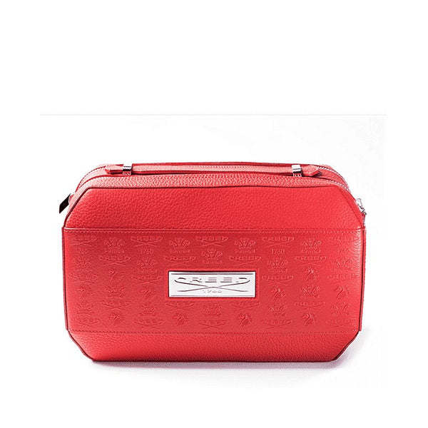 Red Leather Toiletry Bag