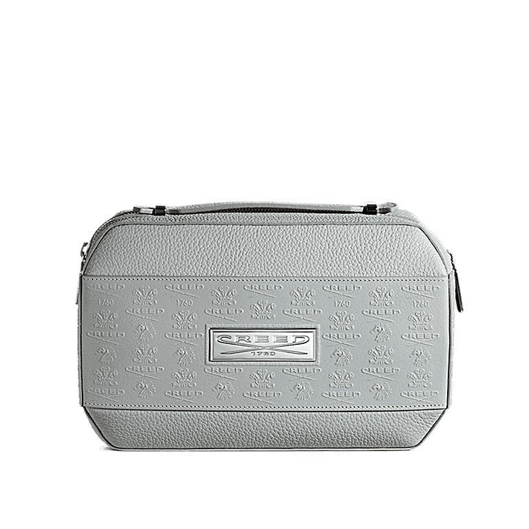 Grey Leather Toiletry Bag